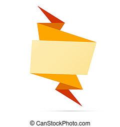 origami, ブランク, ラベル