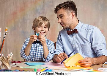 origami, 創造的, 勉強, 子供