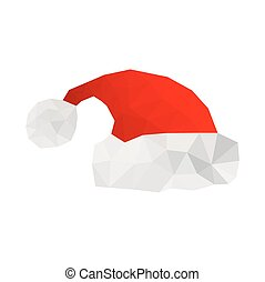 origami, 帽子, イラスト, santa