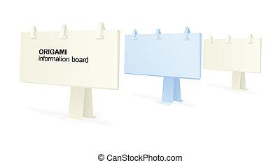 origami, 資訊, 板