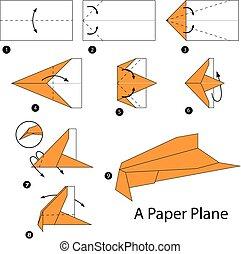 origami a plane.