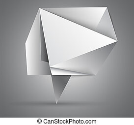 Origami abstract speech bubble