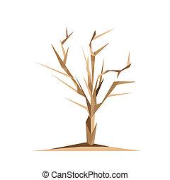 origami, albero