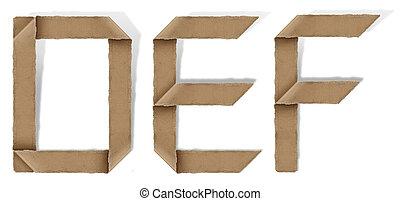 origami alphabet D E F - origami alphabet letters D E F