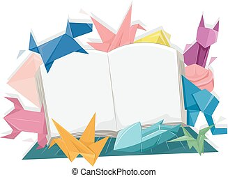Origami Animals Open Book