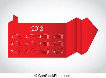 origami, astratto, calendario, 2013