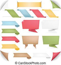 origami, baner, remsor, kollektion