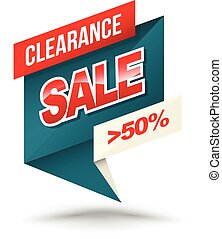Origami banner clearance sale