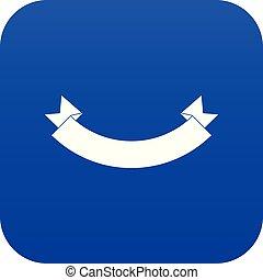 Origami banner icon digital blue
