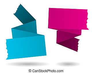 Origami banner-pink and blue