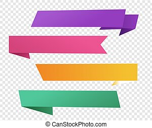 Origami Banner With Transparent Background