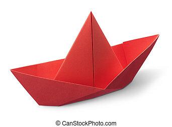 origami, barca carta