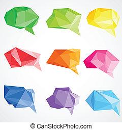 origami, bel, praatje