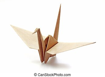 Origami Bird made of Recycle Paper