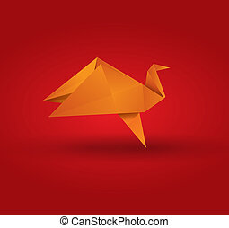 Origami Bird - This image is a vector illustration and can...