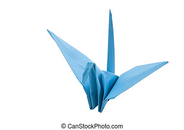 Origami blue bird paper