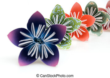 origami, blumen