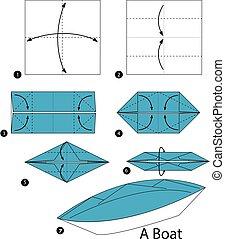 origami, boat.