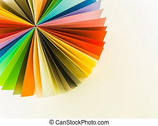 origami, círculo, ventilador, coloridos