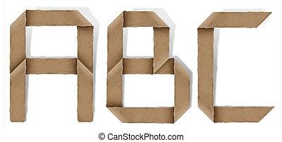 origami, c, b, alfabet