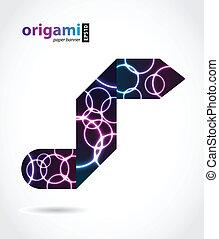 origami, conception, spécial, plasma