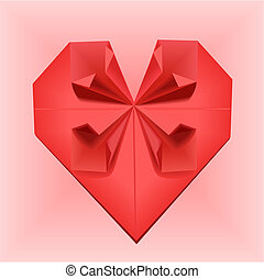 origami, coração