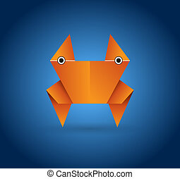 Origami crab - This image is a vector illustration and can...