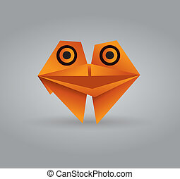 Origami croak - This image is a vector illustration and can...