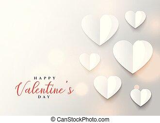 origami, cuore, disegno, giorno, valentine