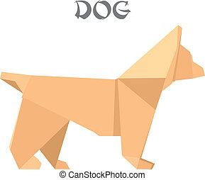 origami, dog