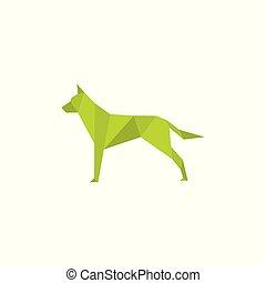 Origami dog vector illustration