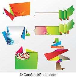 origami, elemente, design