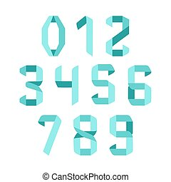 Origami font numbers