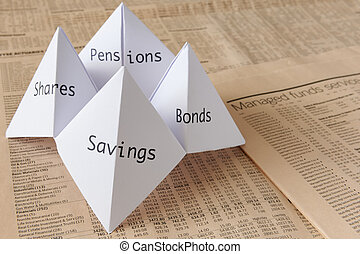 Origami fortune teller - origami fortune teller on financial...