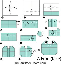 origami, frog.