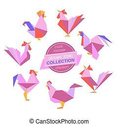 origami, galos, cobrança