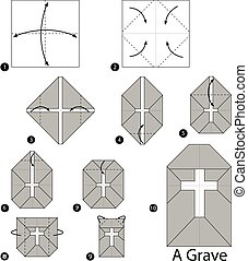 origami, grave.