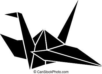 origami, guindaste