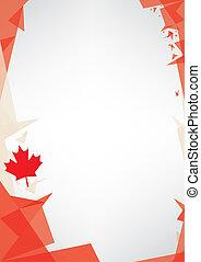 origami, háttér, kanada
