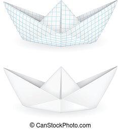 origami, hajó