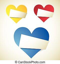 origami, heart.