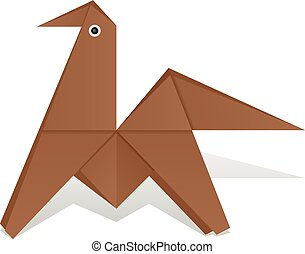 The Origami Horse Vectors Illustrationby Azhart0 0 On A White Background