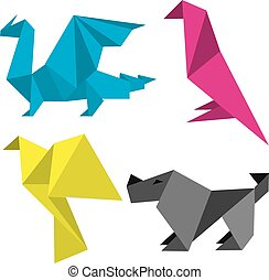 Origami in print colors
