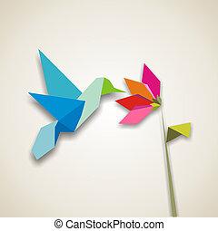 origami, kolibri