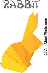 origami, konijn