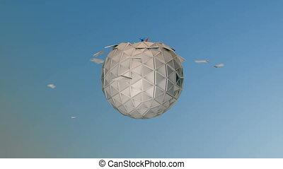 origami kus - Animated origami cranes.