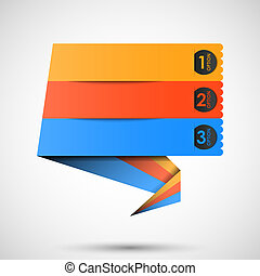 origami label (steps) for your text