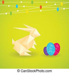 origami, lapin pâques