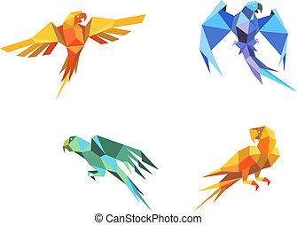 origami, loros