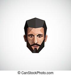 origami, mód, hím, ábra, arc